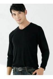 CA51 Men's U Neck Long Sleeve Shirt