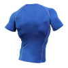 Mens Compression Short sleeve Sports Top Blue/Green/White/Grey #035