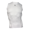 Mens Compression Sleeveless Sports Top Black/white #038