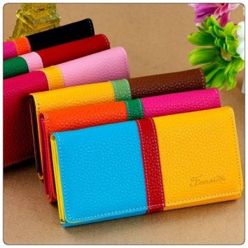 New Fashion Multi Colour PU Leather Wallet