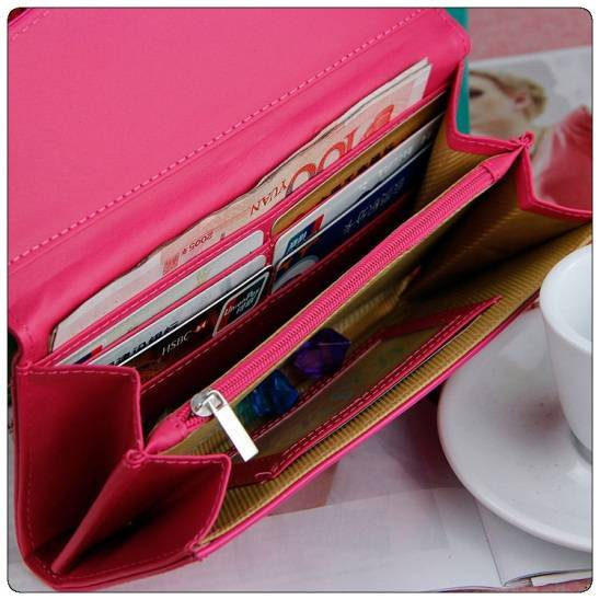 New Fashion Wallet with Bowknot Multiple colors